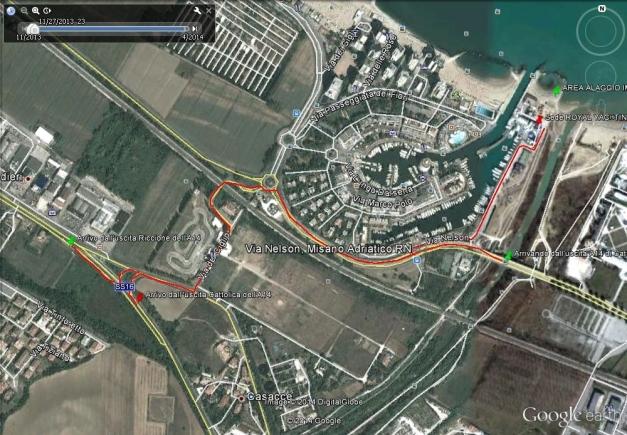 Mappa per raggiungere circolo Portoverde